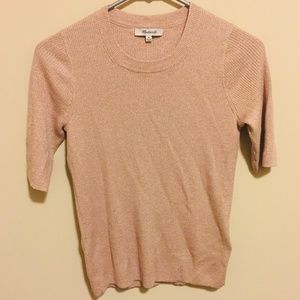 Madewell Evening Sparkle Short Sleeve Sweater